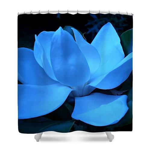 Blue Magnolia Shower Curtain, 71 wide x 74 tall