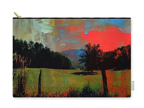 Abstract Cades Cove Valley Scene, Zip Carry Pouch