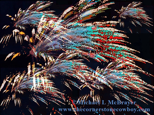 Fireworks Abstract, Digital Composition Photography