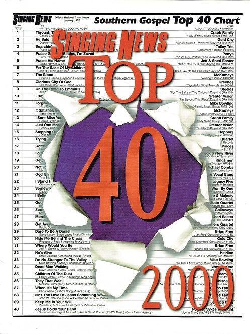 Singing News Top 40 2000 Songbook