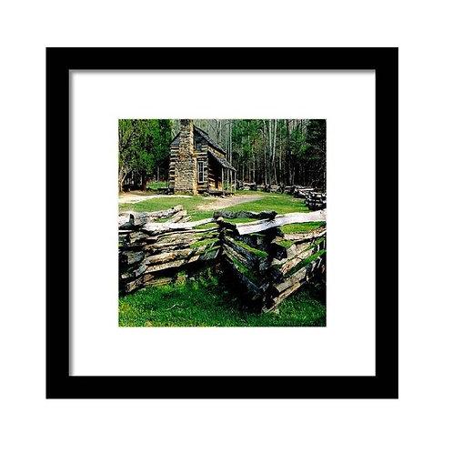 Log Cabin Squared, Framed 8x8 Photo Print