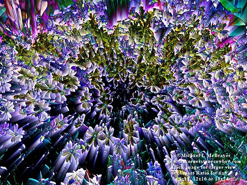 Purple Creeping Phlox Abstract Photo, Surreal Special Effects Floral