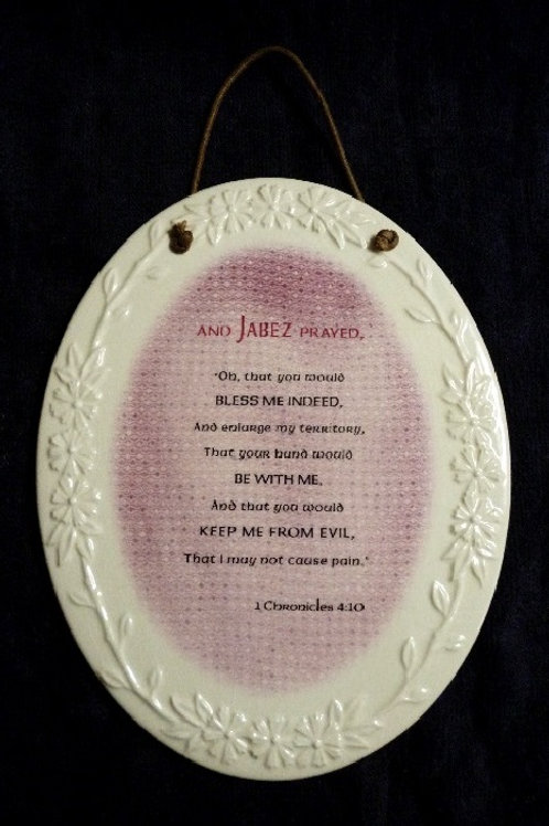 Prayer of Jabez Ceramic Wall Plaque