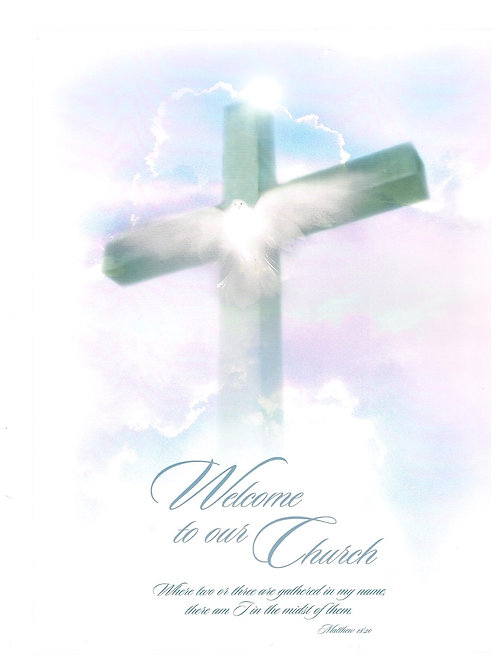 Welcome to our Church U2107, Visitor Information Folders, Pack of 12