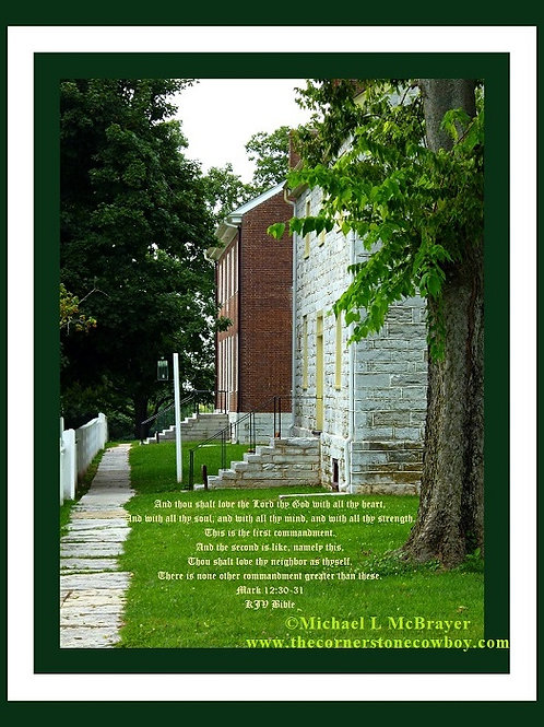 Shaker Village Houses with Mark 12vs30to31, Deluxe Trim Poster