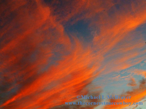 Red Clouds at Sunset, Cloud Photography