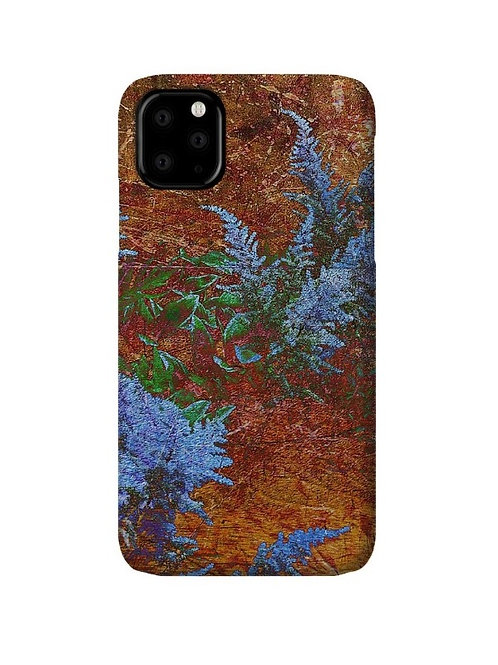 Astilbe Dusty Blue on Board Abstract, iPhone 11 Slim Case