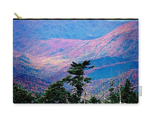 Smoky Mountains Sunset, Zip Carry Pouch