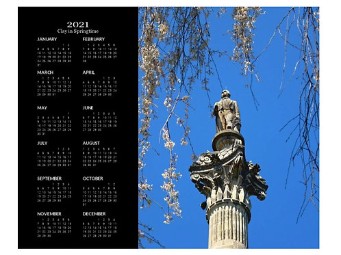 2021 Clay in Springtime Calendar, 8x10 One Page Calendar