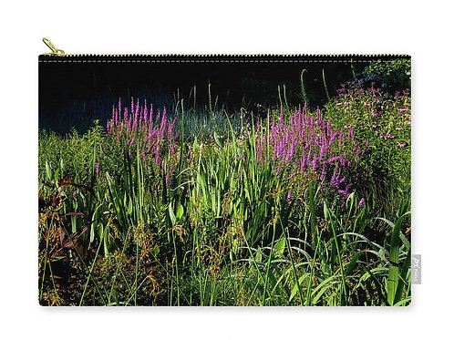 Floral Bog Garden, Zip Carry Pouch