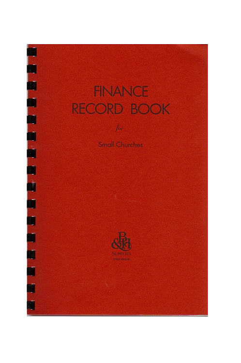 Broadman Finance Record Book for Small Churches
