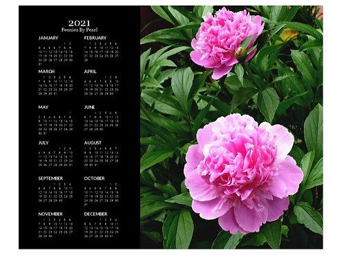 2021 Peonies by Pearl Calendar, 8x10 One Page Calendar