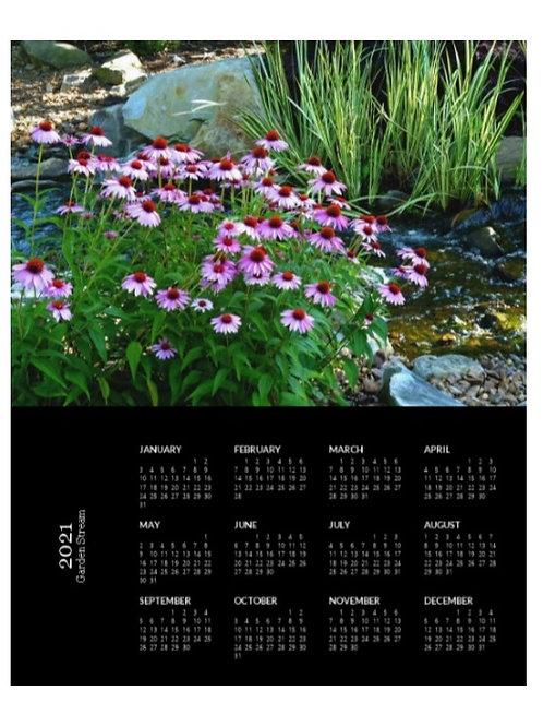 2021 Garden Stream Calendar, 8x10 One Page Calendar