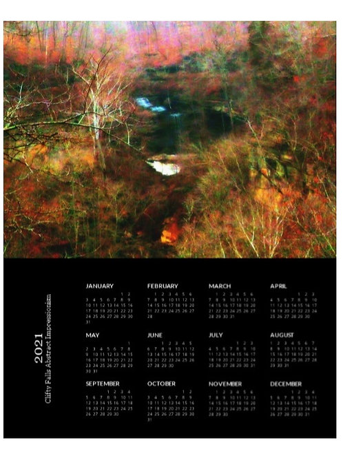 2021 Clifty Falls Abstract Impressionism Calendar, 8x10 One Page Calendar