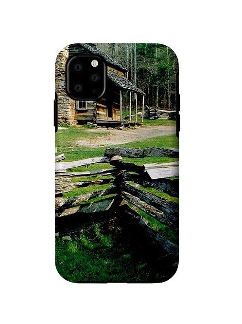 Log Cabin at Cades Cove, iPhone 11 Tough Case