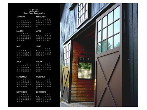 2021 Barn Door Perspective Calendar, 8x10 One Page Calendar