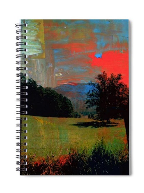 Abstract Cades Cove Valley Scene, 6x8 Spiral Notebook