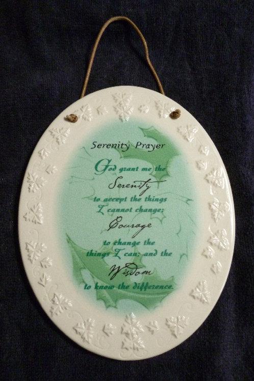 Serenity Prayer Ceramic Wall Plaque