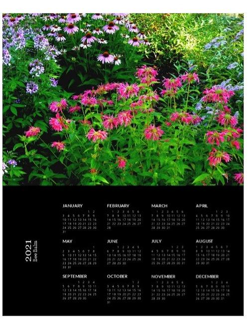 2021 Bee Balm Calendar, 8x10 One Page Calendar