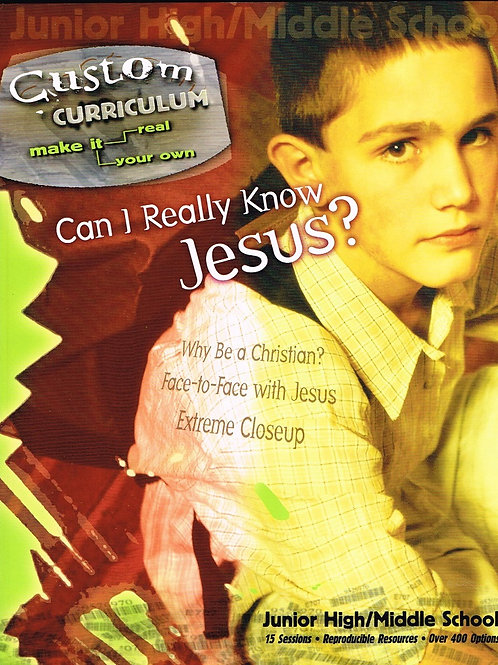 Can I Really Know Jesus, Custom Curriculum