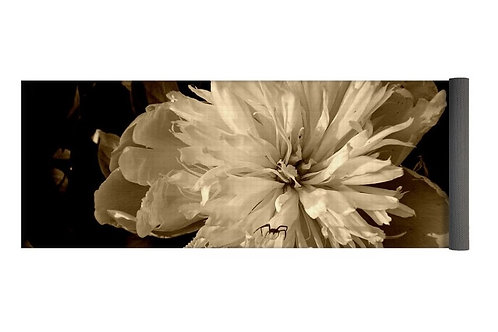 Peony and Spider Sepia Tone Photo, 24x72 Yoga Mat
