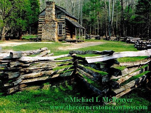 Cades Cove Log Cabin Scene, Historic Structure Photo