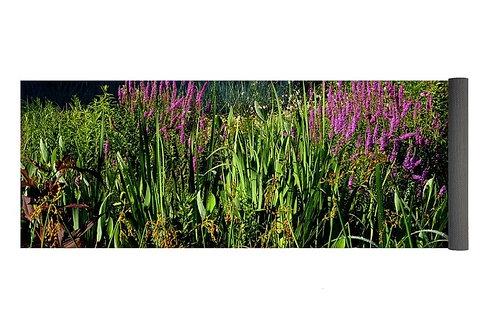 Floral Bog Garden, 24x72 Yoga Mat