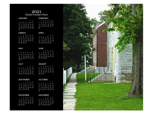 2021 Shaker Country Urban Calendar, 8x10 One Page Calendar