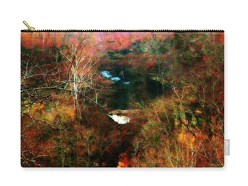 Clifty Falls Abstract Landscape, Zip Carry Pouch