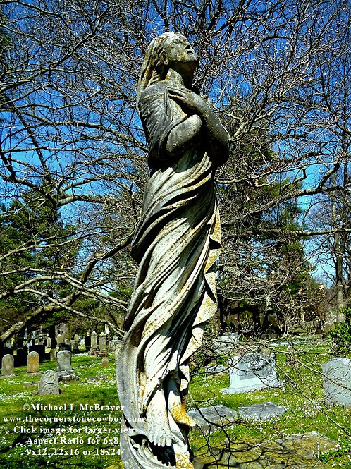 Grave Figure Rising to the Heavens, Cemetery Art Photo