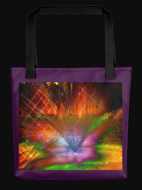 Abstract Fountain Spray, 15x15 Polyester Tote Bag