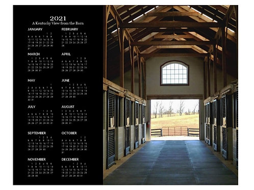 2021 Kentucky View from the Barn Calendar, 8x10 One Page Calendar