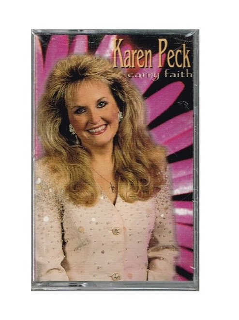 Karen Peck Carry Faith Music Cassette, Original Factory Sealed Wrap