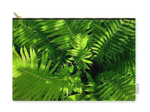 Closeup of Ferns, Zip Carry Pouch