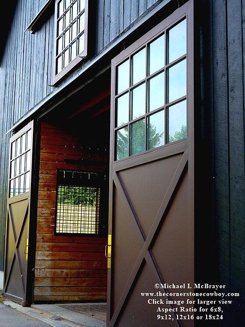 View of Barn Doors, Horse Barn Photo
