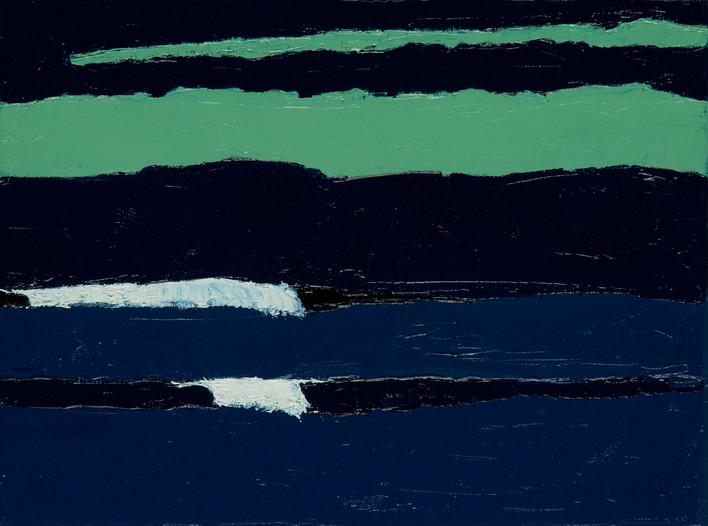 Marée remontante 2, 2015, huile sur toile, 30x40cm VENDU