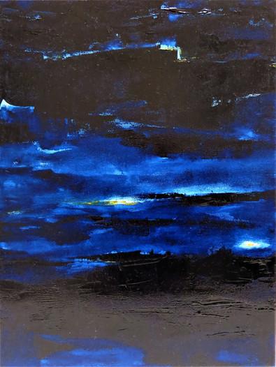Bleu de Paris, 2019, huile sur toile, 40x30cm