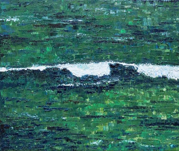 Marée basse, 2017, huile sur toile, 46x55cm, VENDU