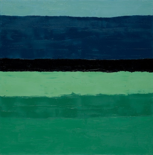Orage, 2014, huile sur toile, 60x60cm