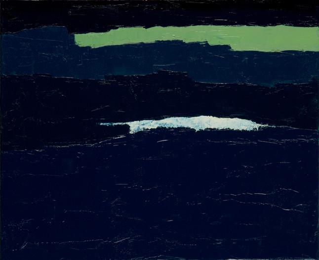 Marée remontante 1, 2015, huile sur toile, 50x60cm