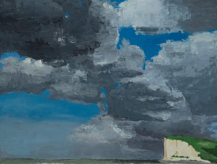 Ciel de Veulettes, 2015, huile sur toile, 46x61cm, VENDU