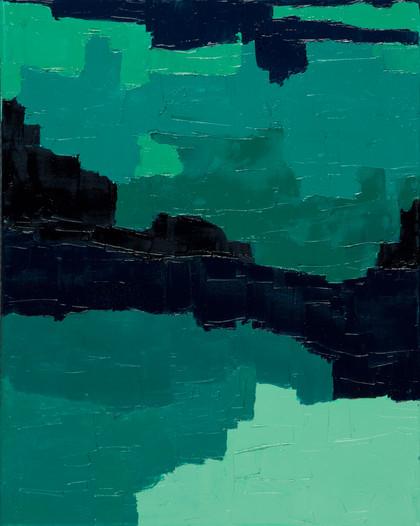 Entre terre et mer, 2015, huile sur toile, 50x70cm