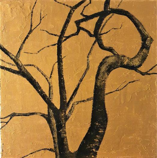 Meiji-jingu tree, 2021, huile sur toile, 30x30 cm VENDU