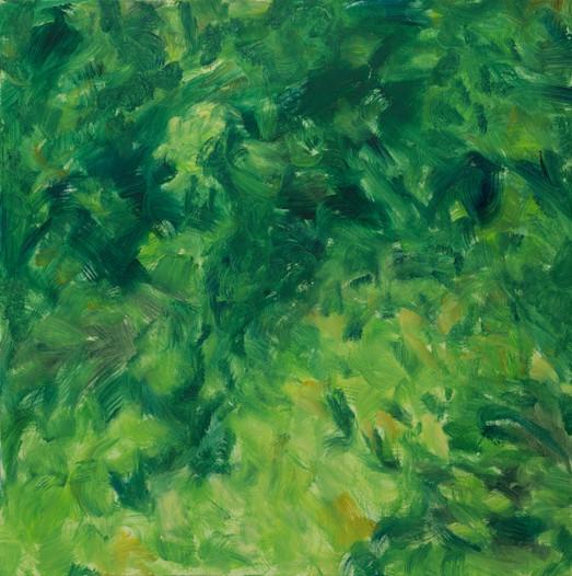 Clairière, 2015, huile sur toile, 80x80cm