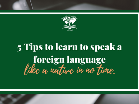 5 Tips to learn to speak a foreign language like a native in no time.