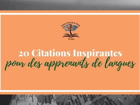 20 meilleurs citation d'apprentissage d'une langues