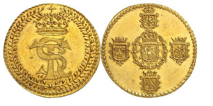 577 - Polen. Sigismund III., 1587-1632. 10 Dukaten 1629, Bromberg(?). Nur zwei Exemplare bekannt. Vorzüglich. NGC MS62+. Taxe: 75.000 Euro. Zuschlag: 280.000 Euro.