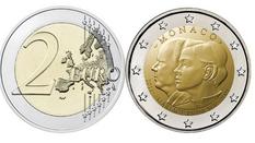 Neue Münze aus Monaco: 10. Hochzeitstag von Fürst Albert II. und Charlene Wittstock (2011-2021)