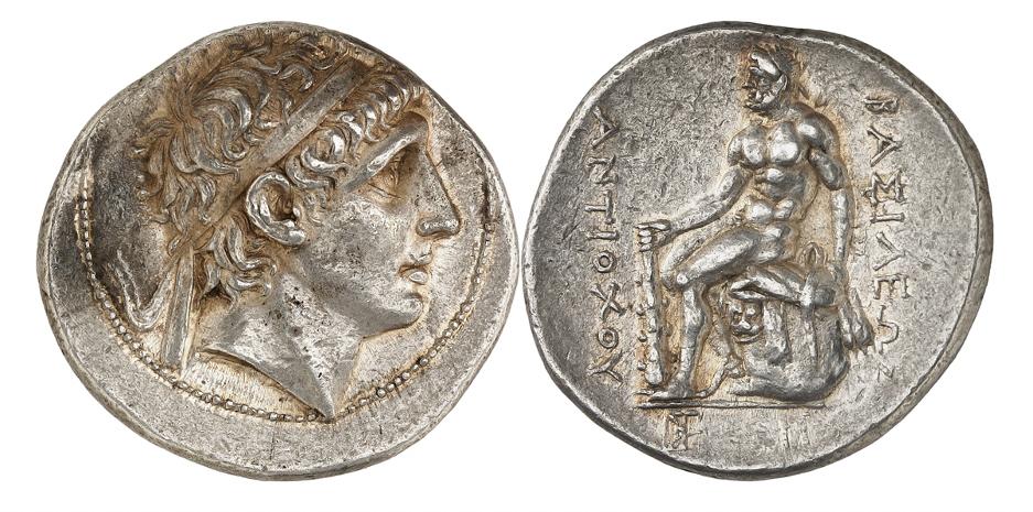 Antiochos I., 280-261. Tetradrachme, 263-261, Magnesia ad Sipylum. Sehr selten. Aus Sammlung Walter Weise. Fast vorzüglich.