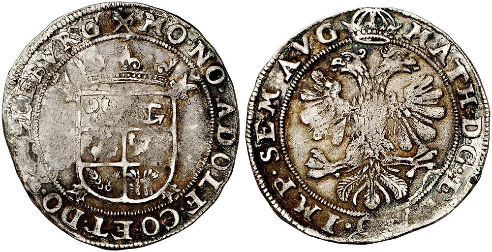 Adolf, 1606-1625, Blamüser (6 Stüber), o.J. (1618), Freudenberg. Ex Samml  ung Horn. [Bildquelle: Fritz Rudolf Künker GmbH & Co. KG, Sommerauktionen 293-294, Los 227, Foto: Lübke & Wiedemann KG, Leonberg].